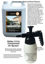 Conservatory UPVC Roof Panel cleaner 5 Ltr & 1 Ltr Hand Pump Spray Solvent Free