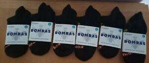 Bombas Women's  Size Small Ankle Socks Black 6 Pair