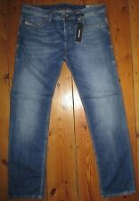 DIESEL SAFADO 0859R STRETCH SLIM-STRAIGHT MENS JEANS FADE BLUE SIZE W34S W34X30L