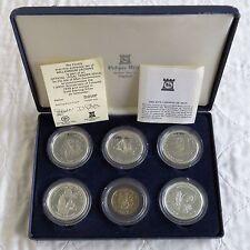 ISOLA di Man 1979 MILLENNIUM di tynwald 5 X ARGENTO PROOF corona e medaglia Set