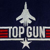 Vintage TOP GUN Air Force Souvenir Sew On Embroidered Woven Badge Patch Collect