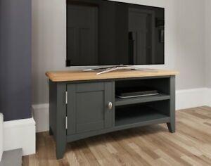 Oak City - Oakland Painted Grey Oak TV Unit