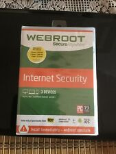 Secure Anywhere Internet Security by Webroot New and Sealed