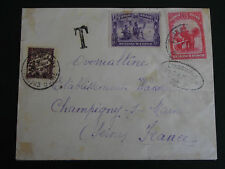Lettre CONGO BELGE 1935 Cover to France +Timbre Taxe (Belgique belgium belgie)