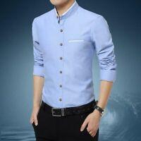 Stylish Dress Shirts Casual Tops Fashion Men's Slim Fit Long Sleeve Luxury
