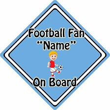 Personalised Football Fan On Board Car Sign ~ Baby On Board ~ Blonde Boy L.Blue