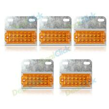 5x Amber 12-LED Truck Trailer Side Marker Lights Assembly For Truck Tailers