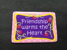 Giftcraft Ceramic Friendship Warms the Heart Fridge Magnet Polka Dots Hearts vtg