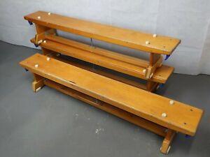 School Gym Balance Bench - Wooden Vintage Furniture Retro Shabby Chic Seats