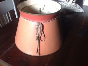 """Vintage Lamp Shade ~ Bell Shaped ~ 16"""" X 11"""" Brown"""