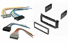 CAR STEREO DASH INSTALL MOUNT KIT MALE FEMALE WIRE HARNESS DODGE JEEP &CHRYSLER