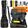 150000LM T6 LED Torch Tactical Military Outdoor Flashlight Headlamp Waterproof
