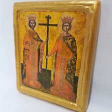 Saint Constantine and Saint Helen San Costantino e Elena Greek Orthodox Icon Art
