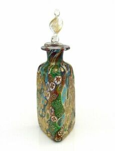 Sublime Murano Art Glass Millefiori Murrine Perfume Bottle & Certificate