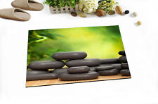 "24x16"" Zen Bamboo Stone Spa Bath Mat Bathroom Rug Non-Slip Home Decor Carpet"