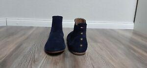TOP!!! Hilfiger Denim Gr. 40 Wild Leder dunkelblau Ankle Chelsea Boots Damen