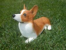 "Beautiful Pembroke Welsh Corgi Dog Heavy Statue Figurine 11"" L x 7.5"" H x 5.5"" W"