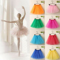 US Women/Adult Teen 3 Layer Tulle TUTU Skirt Organza Pettiskirt Ballet Dancewear