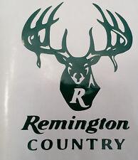 Remington Country Logo High Gloss Green Vinyl Die Cut Gun Sticker