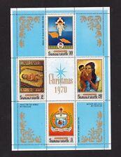 Samoa Christmas 1970 and 1972 Mini Sheets