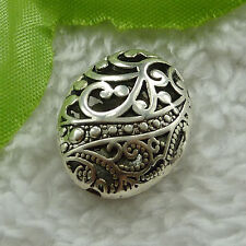 free ship 80 pieces tibet silver nice hollow spacer beads 22x18mm #2727