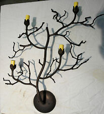 RARE NEW CUSTOM LARGE RUSTIC COLOR TREE BRANCH BRANCHES 4 LIGHT WALL SCONCE LAMP