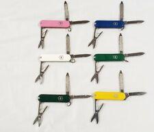6 Victorinox Swiss Army Knives Lot / Yellow, Pink, Hunter, Green, Blue, White