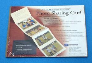 Vintage 2002 Creative Memories Photo Sharing Card w/  5 4x6 Mounting Sleeves NIP