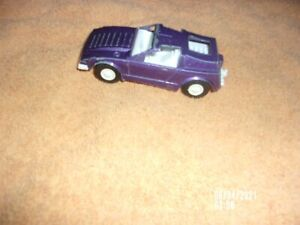 PURPLE TOOTSIE TOY CAPTAIN LASER CAR TO 1977 PLAYSET