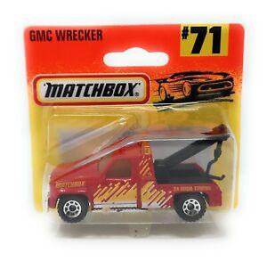 Matchbox No 71 GMC Wrecker Truck red short blister China MBX Superfast