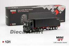 MINI GT 1:64 Mercedes Benz Actros w/ Container Black MGT00131-L Diecast Model