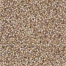 Toho Japonais Graine Perles 1.5 mm ronde taille 15/0 OR Doublé CRISTAL 8.2 g (M13/6)