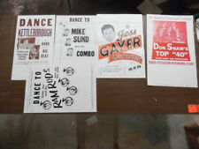 c.1950s Territory Band Music Poster Lot of 5 Vintage Western Swing Rockabilly VG