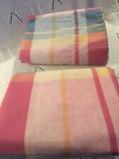 Martha Stewart Everyday Pillowcases Standard Pink Blue Yellow Plaid  USA VTG GUC