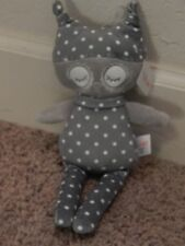 NWT BABY GUND FOREST FRIENDS OAKLEY Gray White Polka Dot Dots OWL Plush Stuffed