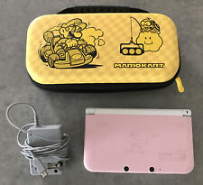 Complete Working Nintendo 3DS XL White and Pink Game Console Bundle Charger