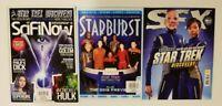 Lot of 3 STAR TREK Starburst SciFiNow SFX Magazines UK Newsstand Editions A244