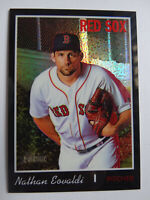 2019 Topps Heritage High Nathan Eovaldi Red Sox Black Chrome Card SP 8/69