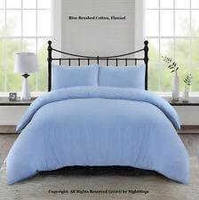 Luxury Brushed Cotton Modern  Flannel Duvet Cover Bedding Set