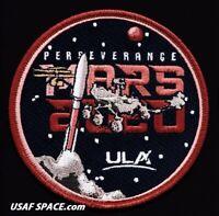 Authentic MARS 2020 -PERSEVERANCE- ULA ATLAS V NASA JPL USAF SPACE Mission PATCH