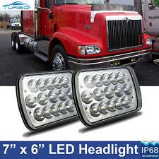 2x LED Headlights CREE Headlamp for International 5900i 7300 7400 9200 9400 9900