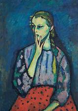 Portrait of a girl Marianne Werefkin di ragazze bambino trecce Camicia Rock B a3 02855