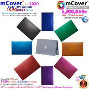 """NEW mCover® Hard Shell Case for 2020 15.6"""" HP Pavilion 15-EGxxxx series laptop"""