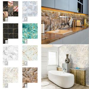 90Pcs Mosaic Wall Tile Sticker Bathroom Kitchen Home Decal Decor Self Adhesive