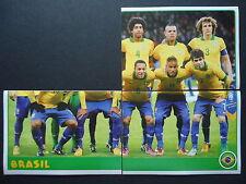 Panini 33 34 & 35 team brasil confed Cup 2013 brasil