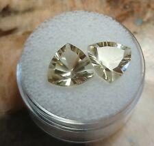 6 Ct Top Luster Trillion Cut Natural Yellow Beryl Pair