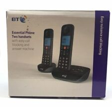BT Essential Call Blocking Twin DECT Home 2x Cordless Phone & Answer Machine