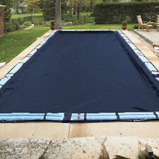 16'x36' Rectangle Economy Inground Pool Winter Cover - No Tubes - 8 Yr Warranty