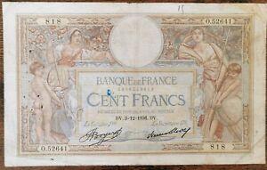 Billet 100 francs LUC OLIVIER MERSON 3 = 12 = 1936 FRANCE  O.52641