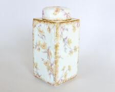 Vintage G.D. & Cie Limoges Floral Jar with Lid